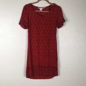 H&M Oriental Print Shift Dress Short Sleeve